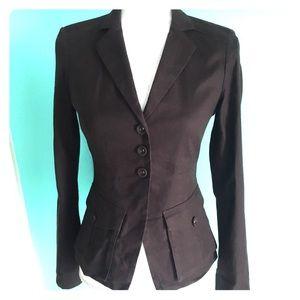 Diane von Furstenberg dark chocolate jacket